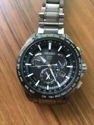 Seiko Astron Cal.8x53 Day Date World Time Used Gps Solar Mens Watch Auth Works