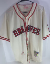 Rare Vintage Retro 1935 Boston Braves Babe Ruth Mitchell And Ness Jersey Size 44