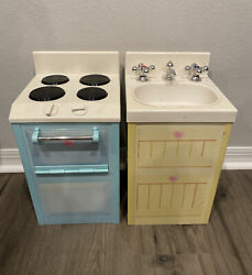 Playskool Rose Petal Cottage Toy Stove Oven And Sink 2006