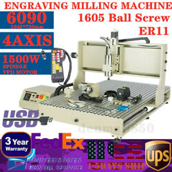 Usb 4axis 6090 Cnc Router Engraver Milling Machine 3d Cutter 1500w + Controller