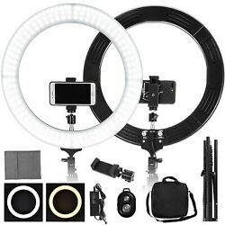 19 Led Smd Ring Light Kit With Stand Dimmable 6000k For Makeup Phone Camera