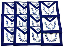 Masonic Apron Blue Lodge Aprons And Regalia Hand Embriodered On Real Leather
