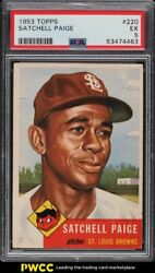 1953 Topps Satchell Paige 220 Psa 5 Ex