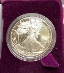 1986 - S Silver Eagle - Proof - Stunning, Flawless - Low Mintage