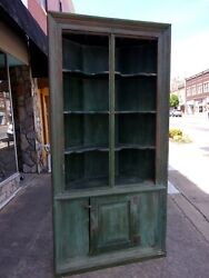 Southern Pine Painted Corner Cupboard 18thc