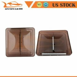 2x Smoked 14 X 14 Replacement Roof Vent Cover For Camper Rv Trailer Ventline