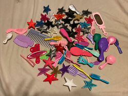 Lot Of Doll Hair Combs And Brushes 68 Pieces