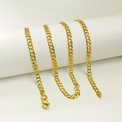 22 Kt Hallmark Real Solid Yellow Gold Curb Cuban Necklace Menand039s Chain 18.930 Gm