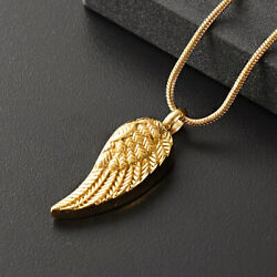Fine Jewelry 18 Kt Real Solid Yellow Gold Angel Wing Chain Necklace Pendant