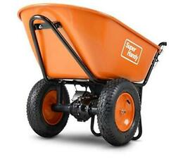 Wheelbarrow Utility Cart Electric 24v Dc 330lbs Max Load Barrel Dump Material