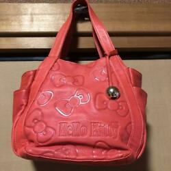 [character Goods] Hello Kitty Leather Tote Bag Not For Sale/amonnlisa/from Japan