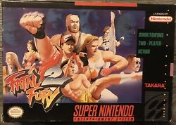 Fatal Fury 2 Super Nintendo Entertainment System 1994 Game And Box