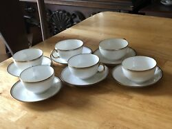 Limoges Uc France Chateau China Cup And Saucer Set