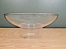 Antique Clear Glass Utility Gas Light Shade 3and039 Fitter 2