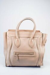 Authentic Celine Tan Smooth Calfskin Leather Micro Luggage
