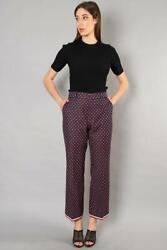 Authentic Navy And Red Geometric G Print Bootcut Trousers Size 46