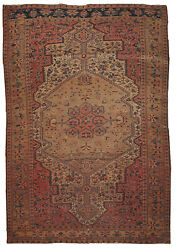 Handmade Antique Oriental Rug 4.3and039 X 6.7and039 131cm X 204cm 1910 1b153