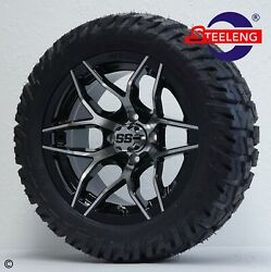 Golf Cart 14 Rally Wheels/rims And 22 'gator' All Terrain Tires Dot Rated