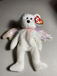 New Beanie Babies Halo Mwmt Brown Nose 1998 Rare Iridescent Wings Tag Errors