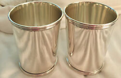 2 Vintage Alvin S251 Solid 925 Sterling Silver Mint Julep Cups