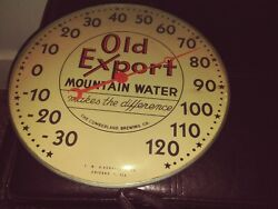 Rare Vtg 1950's Old Export Beer Thermometer Sign Glass Cumberland Brewing 12