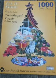 Spilsbury Puzzle Co.1000 Piece Cats For All Seasons Let It Snow 3ft Long