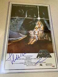 Star Wars George Lucas John Williams Signed Autograph 11x17 Movie Poster Psa/dna
