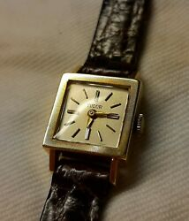 Vintage Ladies Tudor Mechanical Solid 18k Gold Watch 60s Rolex