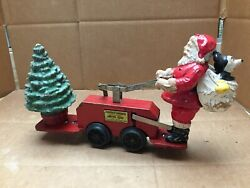 Vintage 1936 Mickey Mouse And Santa Christmas Car 1105 Lionel Corp Disney Wind Up