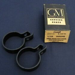 H] Nos 55 Chevy Bel Air 50-63 Truck Corvair Muffler Tail Pipe Clamps-2 3689542
