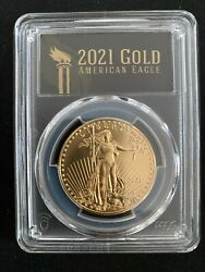 2021 1 Oz American Gold Eagle Type 1 Pcgs Ms70 First Day Of Issue Black Label