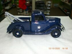 Jim Beam 1935 Ford Model A Police Tow Truck Decanter-blue