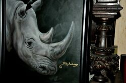 The Most Beautiful Rhinoceros Head  Painting By Well Known Artist