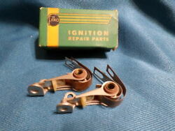 1951-58 Chrysler Nors Pair Of Ignition Breaker Point-sets
