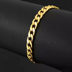 Fine Jewelry 22 Kt Real Solid Yellow Gold Curb Link Menand039s Bracelet 36.630 Gram