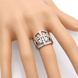 18 K Hallmark Real Solid White Gold Hollow Wish Tree Women's Ring Size 6,7,8,9
