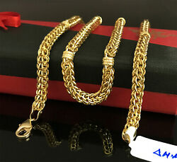 18 Kt Hallmark Real Solid Yellow Gold Dubai Necklace Men's Chain 22.980 Grams