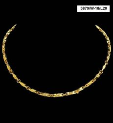 22 Kt Hallmark Real Solid Yellow Gold Necklace Curb Miami Link Chain 19 Grams