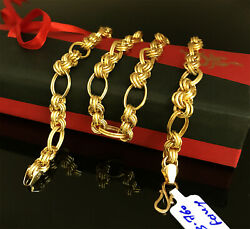 18 Kt Hallmark Real Solid Yellow Gold Curb Cuban Necklace Men's Chain 23.760 Gm