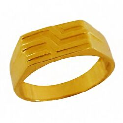 22 K Solid Yellow Gold Tungsten Engagement Wedding Wear Jewelry Menand039s Band Ring
