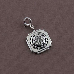 Fine Jewelry 14 Kt Hallmark Real Solid White Gold Traditional Necklace Pendant