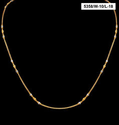 22 Kt Hallmark Real Solid Yellow Gold Iced Out Miss Jewelry Necklace Chain 20 Gm