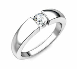 Igi Certified 0.60 Ct Diamond Solitaire 14 Kt White Gold Engagement Ring Size 7