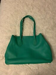 NWOT Neely amp; Chloe The Large Pebbled Leather Green Tote Women's Bag RARE $250.00
