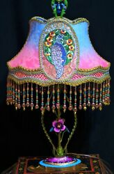 French Boudoir Tole Table Lamp And Lampshade Lamp Shade