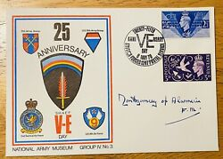 Bernard Montgomery Signed Autographed First Day Cover Jsa Letter Field Marshall