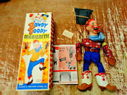 Antique Howdy Doody Marionette Cowboy Show Puppet With Original Box
