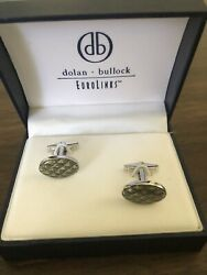 Dolan Bullock Silver and Enamel Cufflinks In Box Never Worn $49.00