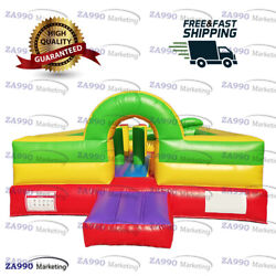 13x13ft Inflatable Fun City Colourful Bounce House With Air Blower