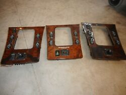 1998 Mercedes Benz E320 Awd Set Of 3 Console Trims Untested For Parts